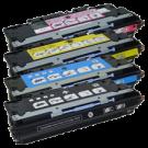 HP 3700 Laser Toner Cartridge Set Black Cyan Yellow Magenta