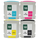 HP HP 10 INK / INKJET Cartridge Set Black Cyan Yellow Magenta