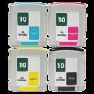 HP HP 10 INK / INKJET Cartridge Set Black Cyan Yellow Magenta