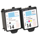 HP C5010A / C5011A (14 / 14) INK / INKJET Cartridge Combo Pack Black Tri-Color