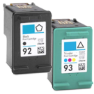 HP C9361W / C9362W (93 / 92) INK / INKJET Cartridge Combo Pack Black Tri-Color