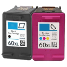HP CC641WN / CC644WC HP 60XL Black Tri-Color High Yield Ink Cartridge Combo Pack
