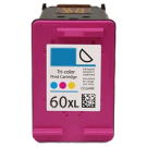 HP CC644WC HP 60XL Tri-Color High Yield Inkjet Cartridge