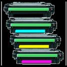 HP CP5525 Laser Toner Cartridge Set Black Cyan Yellow Magenta