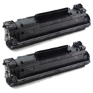 PACK of 2-HP CF283A (83A) Laser Toner Cartridge