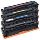 HP CP1215 Laser Toner Cartridge Set Black Cyan Yellow Magenta