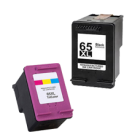 HP N9K03AN / N9K04AN (#65XL) High Yield INK / INKJET Cartridge Combo Pack Black Tri-Color