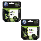 ~Brand New Original HP F6U63AN / F6U64AN (HP 63XL) High Yield INK / INKJET Cartridge Combo Pack Black Tri-Color
