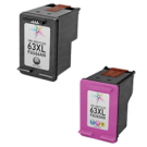 HP F6U63AN / F6U64AN (HP 63XL) High Yield INK / INKJET Cartridge Combo Pack Black Tri-Color