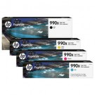HP 990X M0K01AN M0J89AN M0J93AN M0J97AN Original Pagewide Ink Cartridge Combo High Yield Bk/C/M/Y