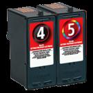 LEXMARK 18C1960 + 18C1974 (#4 #5) INK / INKJET Cartridge Combo Pack