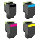 LEXMARK 701 High Yield Laser Toner Cartridge Set Black Cyan Magenta Yellow