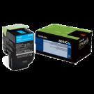 Lexmark 80C1HC0 Laser Toner Cartridge Cyan
