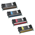 LEXMARK C5242 Laser Toner High Yield SET Black Cyan Magenta Yellow