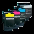 LEXMARK / IBM C540 High Yield Laser Toner Cartridge Set Black Cyan Magenta Yellow