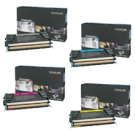 ~Brand New Original LEXMARK C736 Laser Toner Cartridge Set Black Cyan Magenta Yellow