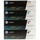 Brand New Original HP 131A Laser Toner Cartridge Set Black Cyan Yellow Magenta High Yield