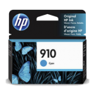 Brand New Original HP OEM-3YL58AN (910) Cyan Ink / Inkjet Cartridge