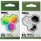 ~Brand New Original OEM-DELL Series 15 INK / INKJET Cartridge Combo Black Color