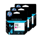 Brand New Original HP CZ135A (HP 711) INK / INKJET Cartridge High Yield Magenta 3 Pack