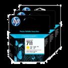 Brand New Original HP CZ136A (HP 711) INK / INKJET Cartridge High Yield Yellow 3 Pack
