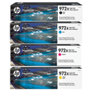 ~Brand New Original HP 972X High Yield INK / INKJET Cartridge Set Black Cyan Magenta Yellow