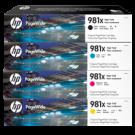 ~Brand New Original HP 981X High Yield Laser Toner Cartridge Set Black Cyan Magenta Yellow