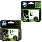 ~Brand New Original OEM-HP X4D92AN (64XL) INK / INKJET Cartridge Combo Black Tri-Color