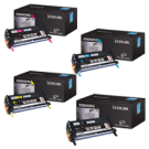 Brand New Original LEXMARK / IBM X560N High Yield Laser Toner Cartridge Set Black Cyan Yellow Magenta