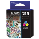 ~Brand New Original EPSON T215530 (215) OEM INK / INKJET Cartridge Ultra Tri-Color