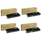 ~Brand New Original XEROX C400 / C405 Extra High Yield Laser Toner Cartridge Set Black Cyan Magenta Yellow