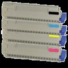 OKIDATA MC860 / CX2633 Laser Toner Cartridge Set Black Cyan Yellow Magenta