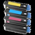 OKIDATA C3100 / C3200 Laser Toner Cartridge Set Black Cyan Yellow Magenta