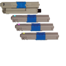 Okidata MC361 / C530 (Type C17) Laser Toner Cartridge Set Black Cyan Yellow Magenta High Yield