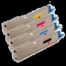 OKIDATA C3300 / C3400 Laser Toner Cartridge Set Black Cyan Yellow Magenta High Yield
