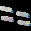Okidata C831 Laser Toner Cartridge Set Black Yellow Magenta Cyan