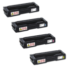 RICOH SPC 220 / 221 / 240 Laser Toner Cartridge Set Black Cyan Magenta Yellow