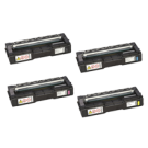 RICOH SP C250 (C250A) Laser Toner Cartridge Set Black Cyan Magenta Yellow