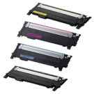 SAMSUNG CLT-404S Laser Toner Cartridge Set Black Cyan Magenta Yellow