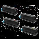 OKIDATA Type C15 Laser Toner Cartridge Set Black Cyan Yellow Magenta