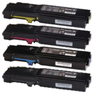 XEROX 6600 / 6605 High Yield Laser Toner Cartridge Set Black Cyan Magenta Yellow