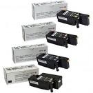 Brand New Original OEM XEROX 6022 Laser Toner Cartridge Set Black Cyan Magenta Yellow